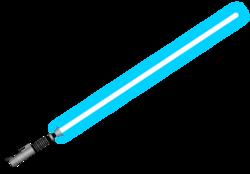 Lightsaber,_silver_hilt,_blue_blade
